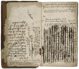 Folger Manuscript in Luna; V.a.281, 1v || 2r
