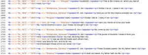 The XML for the New Variorum Shakespeare